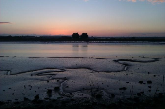 Sunset over the River Adur in Shoreham, Sussex